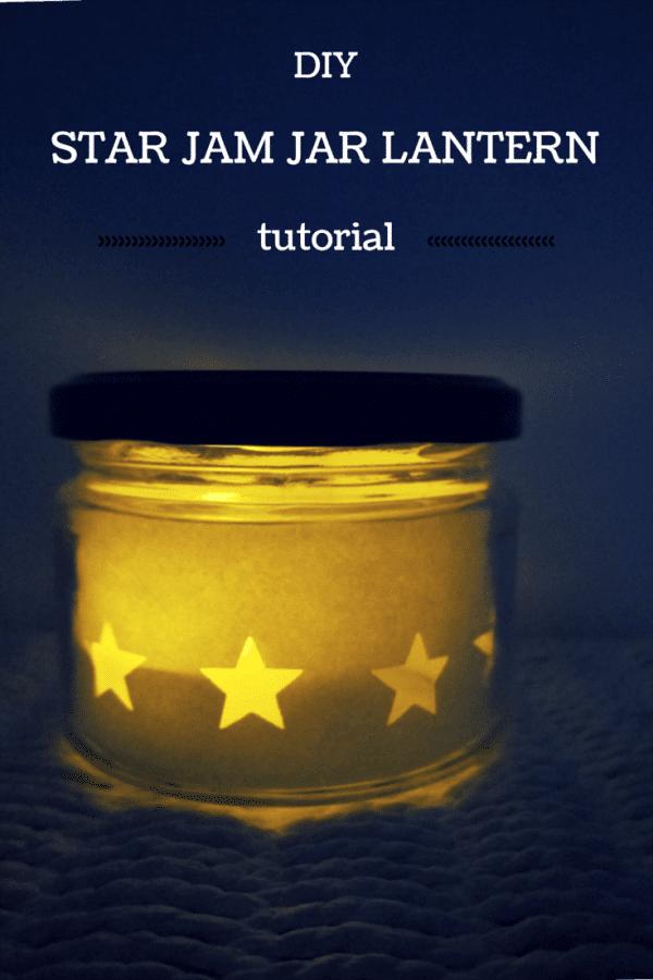 DIY star jam jar lantern tutorial