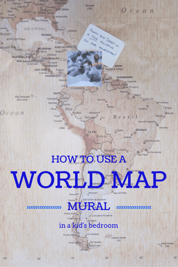 How to use a world map mural