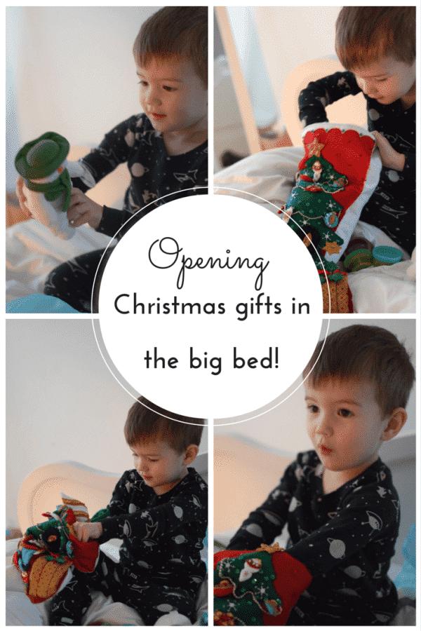 Opening stockings