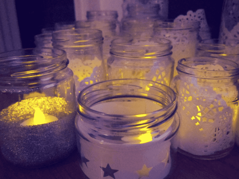 Star jam jar lantern