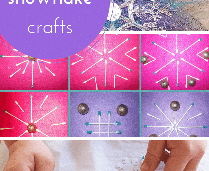 10 snow, snowman and snowflake crafts for kids