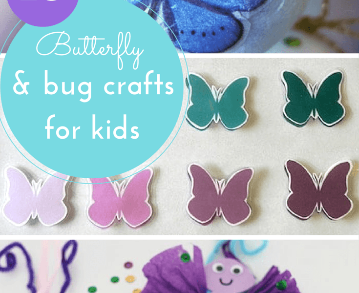 http://www.hodgepodgecraft.com/butterfly-bug-crafts-for-kids/