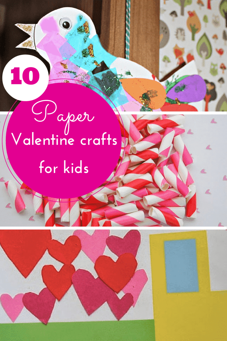 10 pretty paper valentine crafts for kids