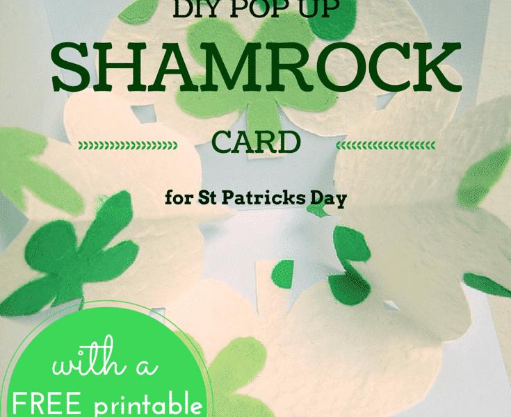 pop-up shamrock DIY card for St Patricks day