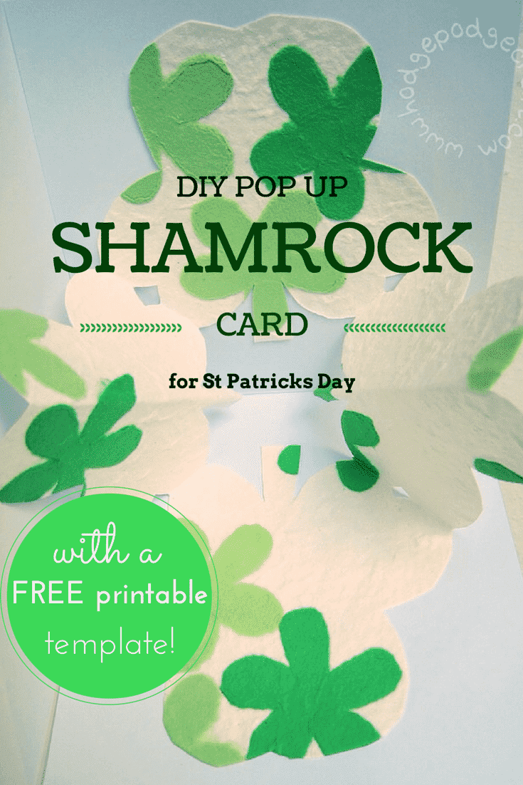 Make a pop-up shamrock DIY card for St Patricks day