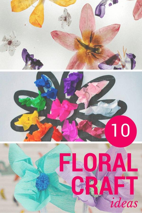 FLORAL craft ideas