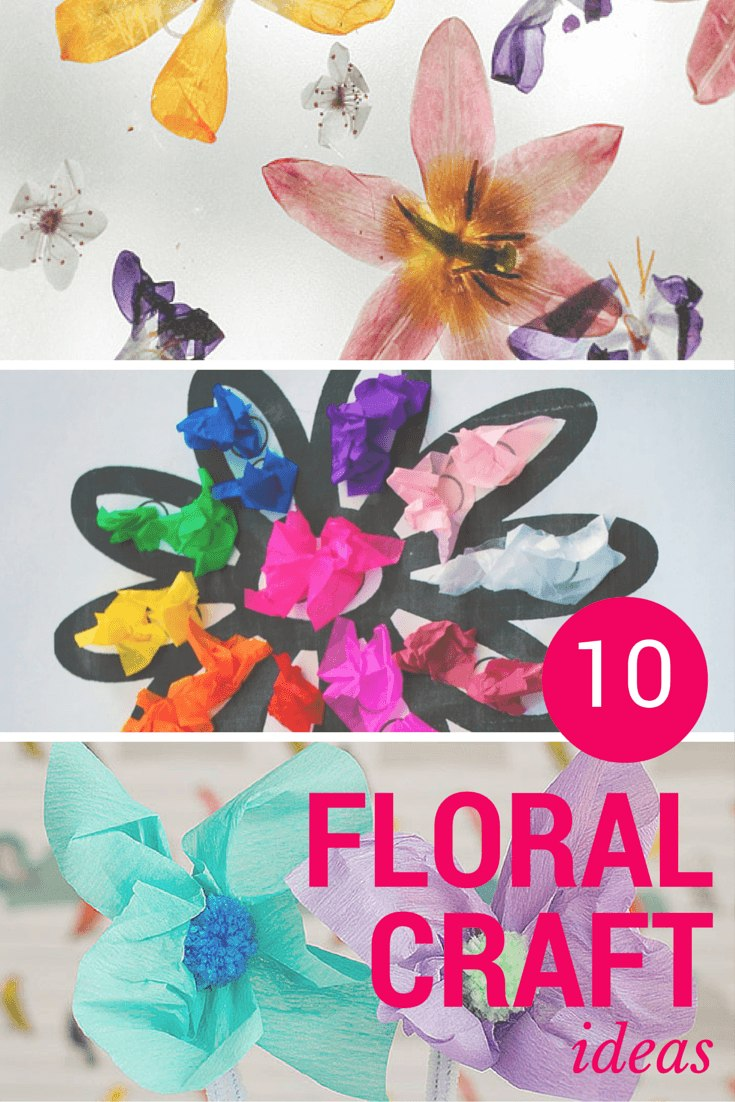 10 fun floral craft ideas