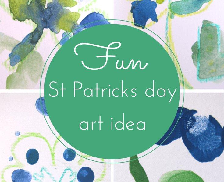 Happy St Patricks Day Art Idea