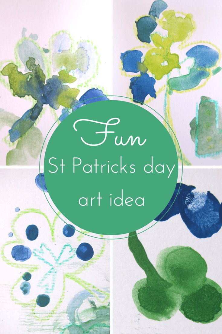 Happy St Patricks day art idea for kids of all ages