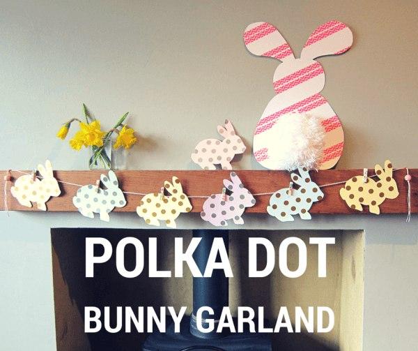 Polka dt spring bunny garland