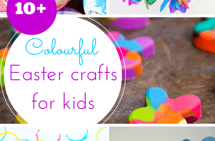 colourful Easter crafts for toddlers