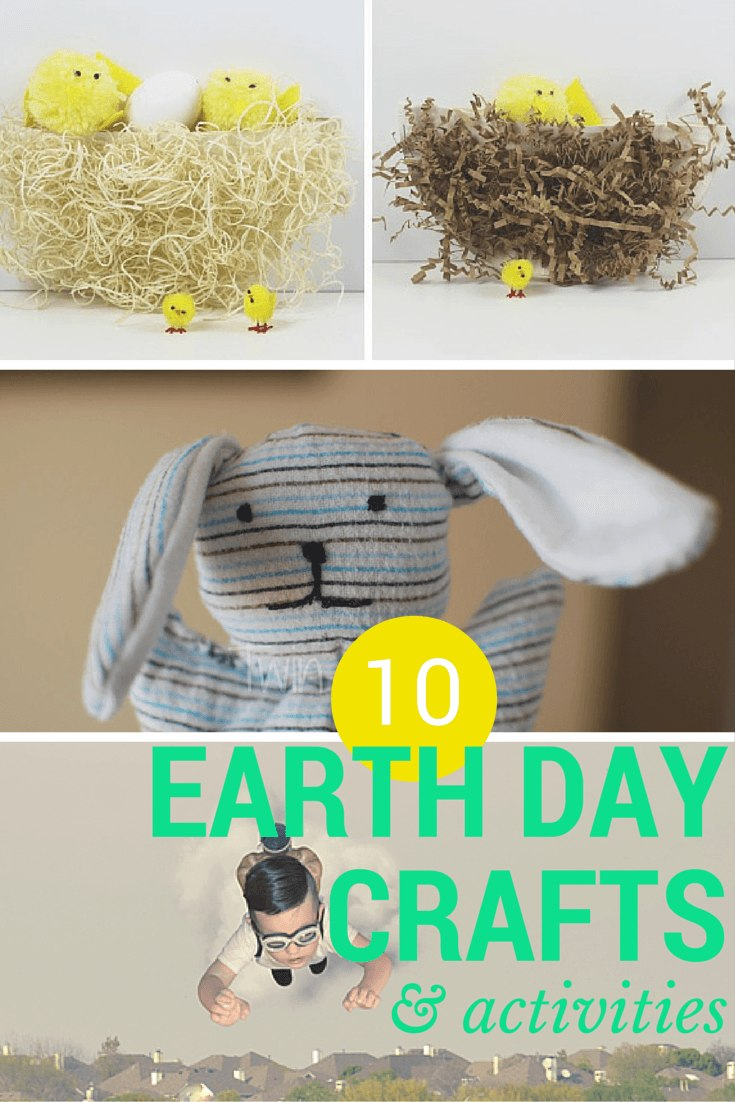 10 upcycled earth day crafts & activities for kids