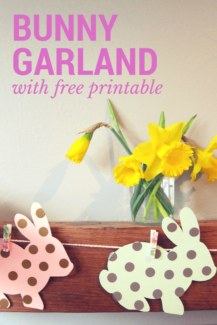 Polka dot spring bunny garland