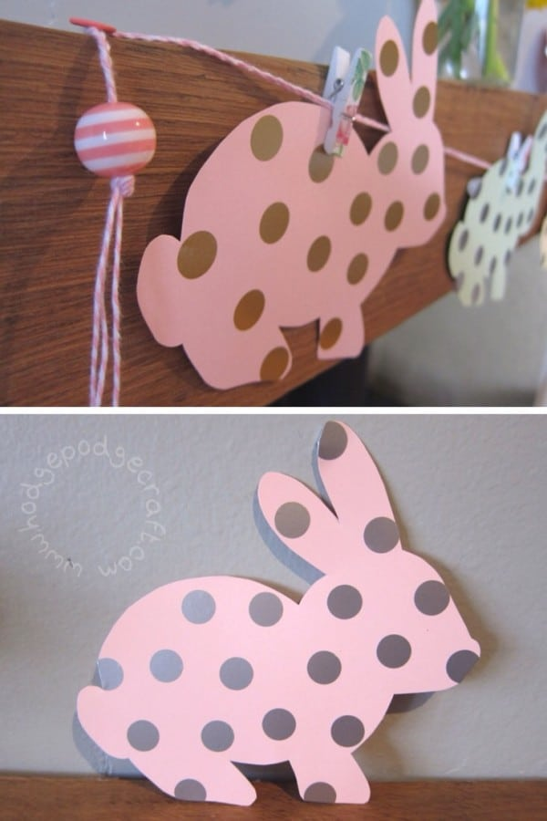 Bunny garland WM
