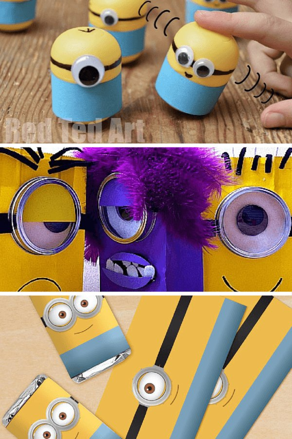 DIY minion party ideas for favours