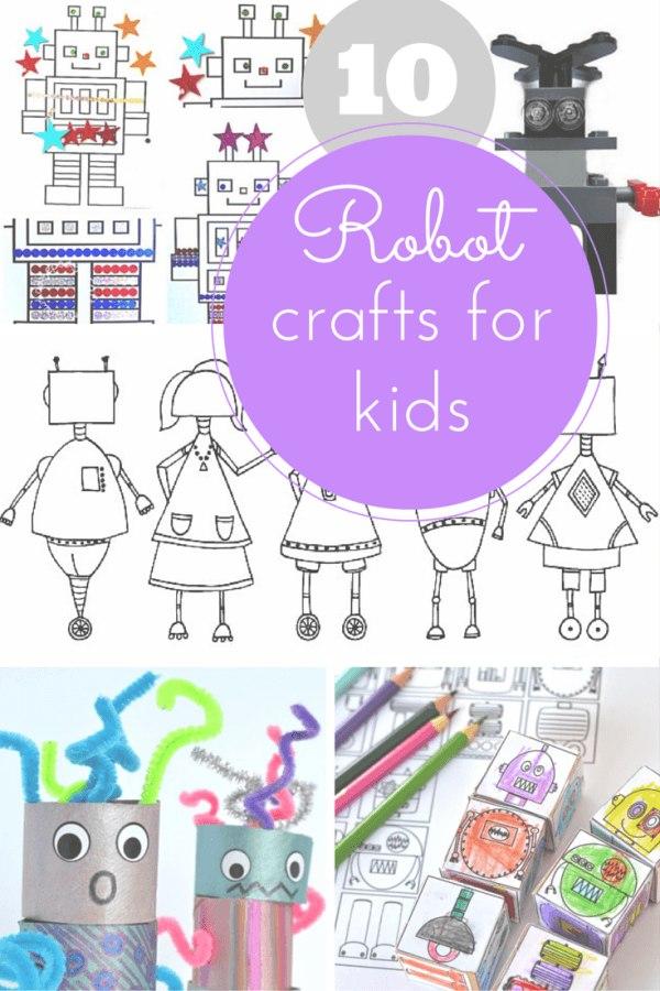 Robot crafts for kids