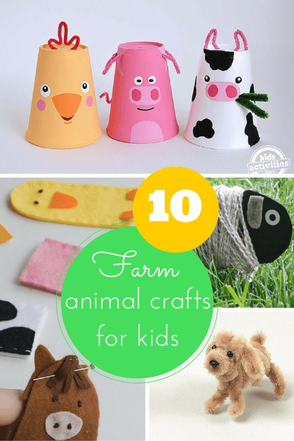 10 farm animal crafts for kids
