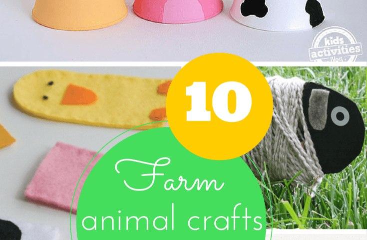 10 farm animal crafts for kids