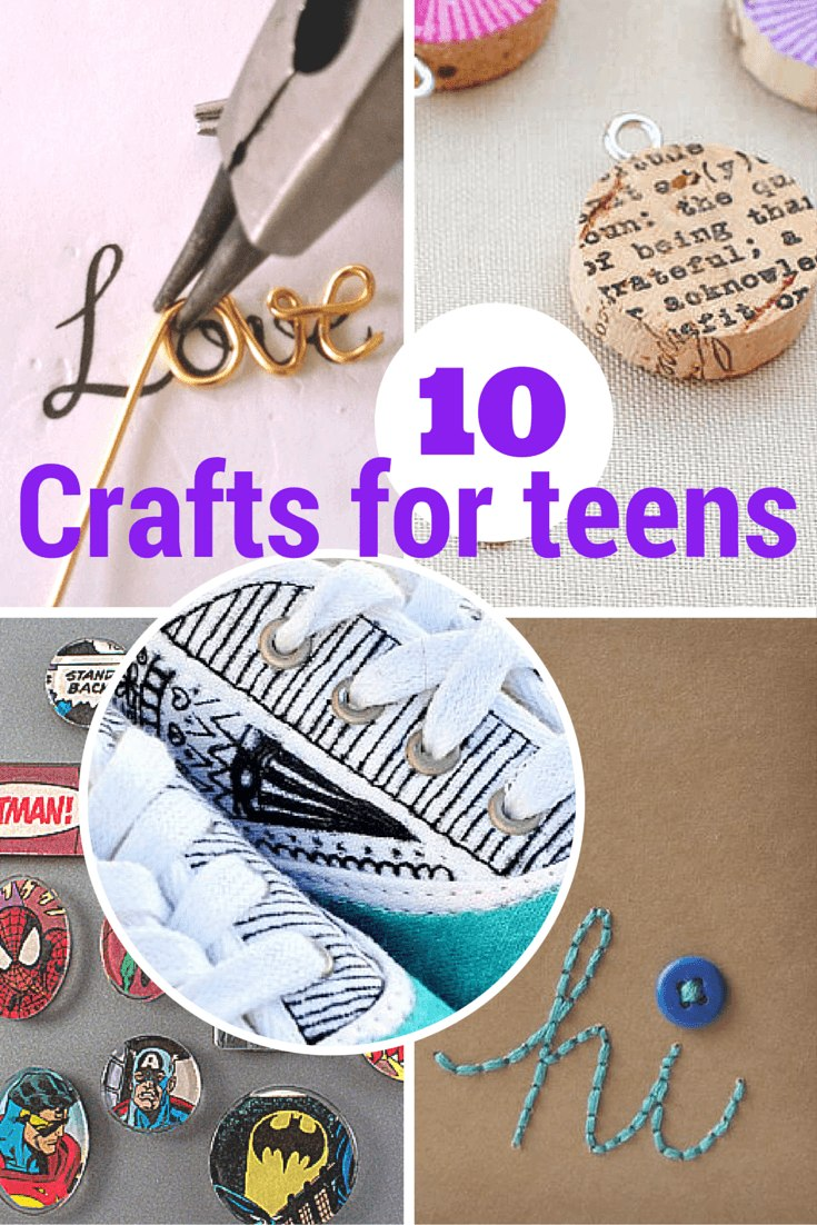 10 terrific crafts for teens