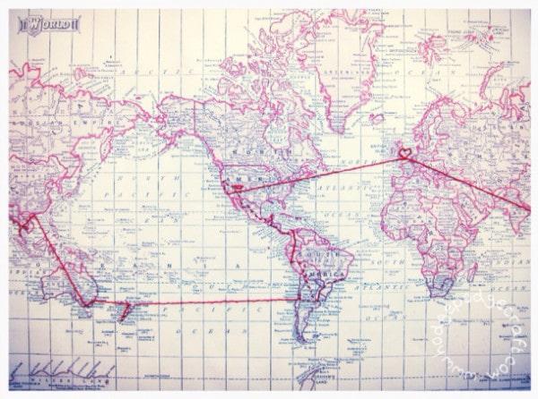 honeymoon map DIY