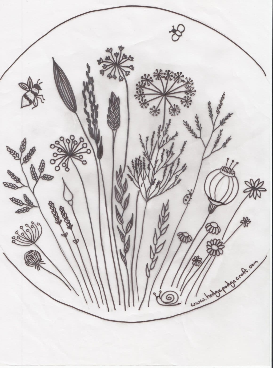 photograph regarding Printable Embroidery Patterns named Free of charge floral meadow embroidery behavior