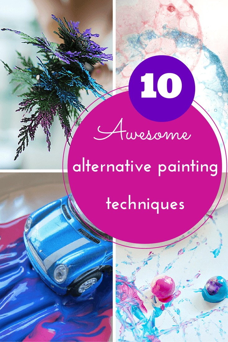10 alternative painting techniques for kids