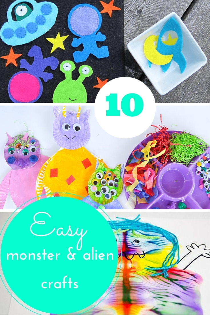 Monster & Alien crafts for kids