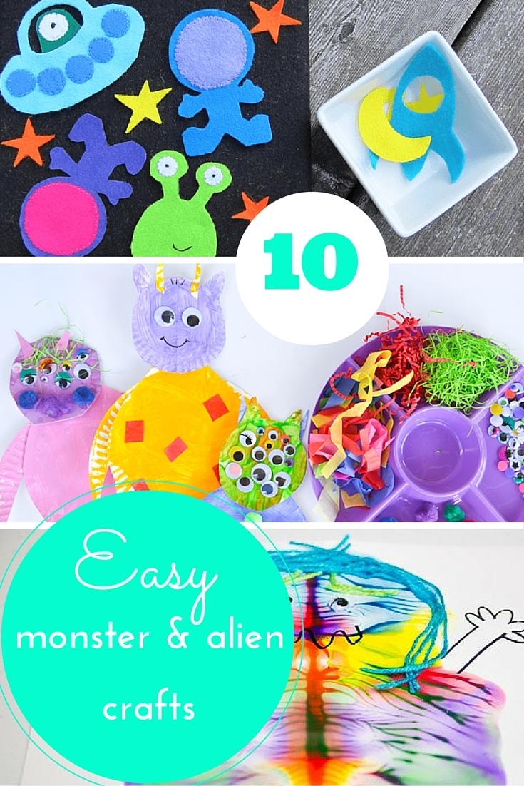 Monster & Alien crafts for kids