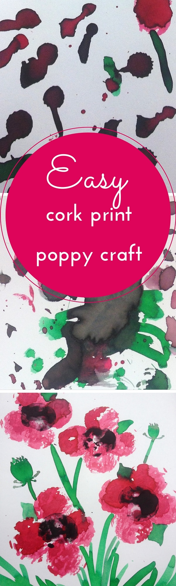 Easy poppy craft cork printing