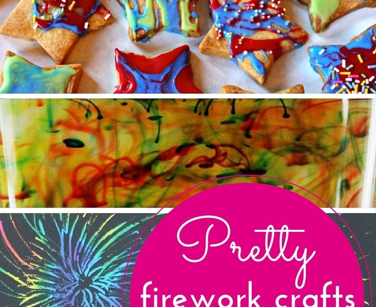 Pretty firework crafts for kids