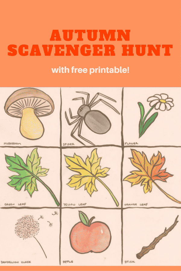 graphic about Fall Scavenger Hunt Printable identified as An Autumn Scavenger Hunt (with no cost printable)!