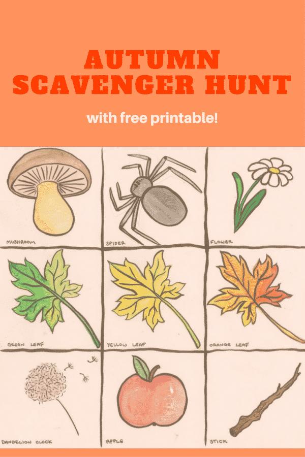 Autumn Scavenger Hunt PIN